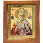 Святитель Николай Чудотворец в красном облачении, рамка 19*22,5 см - Иконы