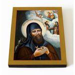 Преподобный Еразм Печерский, икона на доске 8*10 см - Иконы