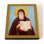 Преподобный Лука Печерский, эконом, икона на доске 8*10 см - Иконы