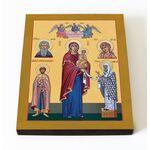 Максимовская икона Божией Матери, печать на доске 8*10 см - Иконы