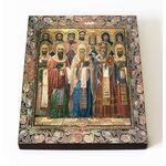 Собор Ростовских святых, икона на доске 8*10 см - Иконы