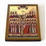 Собор новомучеников и исповедников Соловецких, икона на доске 8*10 см - Иконы
