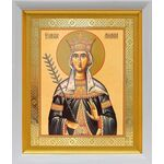 Благоверная княгиня Милица Сербская, икона в белом киоте 19*22 см - Иконы