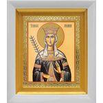 Благоверная княгиня Милица Сербская, царица, белый киот 14*16 см - Иконы