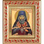 Святитель Иоанн Шанхайский, икона в рамке с узором 14,5*16,5 см - Иконы
