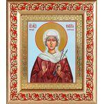 Мученица Виктория Кордувийская, икона в рамке с узором 14,5*16,5 см - Иконы