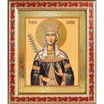 Благоверная княгиня Милица Сербская, икона в рамке с узором 19*22,5 см - Иконы