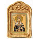 Благоверная княгиня Милица Сербская, икона в резной рамке - Иконы