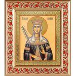 Благоверная княгиня Милица Сербская, в рамке с узором 14,5*16,5 см - Иконы