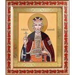 Благоверный князь Юрий Всеволодович, Георгий, рамка с узором 19*22,5см - Иконы
