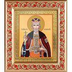 Благоверный князь Юрий Всеволодович, Георгий, рамка с узором 14,5*16,5 - Иконы