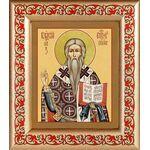 Священномученик Власий Севастийский, в рамке с узором 14,5*16,5 см - Иконы