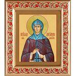 Преподобная Александра Дивеевская, икона в рамке с узором 14,5*16,5 см - Иконы