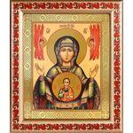 """Икона Божией Матери """"Знамение"""" Верхнетагильская, рамка с узором19*22,5 - Иконы"""