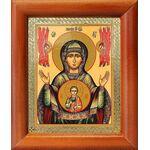 """Икона Божией Матери """"Знамение"""" Верхнетагильская, рамка 8*9,5 см - Иконы"""