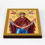 Святый Пояс Пресвятой Богородицы, икона на доске 20*25 см - Иконы