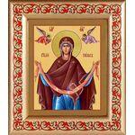 Святый Пояс Пресвятой Богородицы, рамка с узором 14,5*16,5 см - Иконы