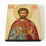Мученик Максим Римский, епарх, икона на доске 8*10 см - Иконы
