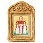 Мученицы Вера, Надежда, Любовь и мать их София, икона в резной рамке - Иконы
