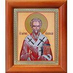 Святитель Мирон Критский, икона в деревянной рамке 8*9,5 см - Иконы
