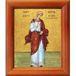 Мученица Агафия Панормская, дева, икона в рамке 8*9,5 см - Иконы