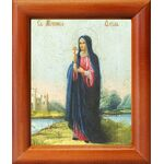 Мученица Фекла Персидская, икона в рамке 8*9,5 см - Иконы
