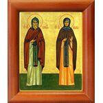 Преподобные Кирилл и Мария Радонежские, икона в рамке 8*9,5 см - Иконы