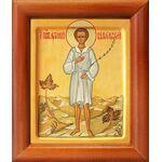 Праведный Артемий Веркольский, отрок, икона в рамке 8*9,5 см - Иконы