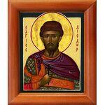 Мученик Диодор Коринфский, икона в рамке 8*9,5 см - Иконы