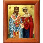 Священномученик Зиновий Егейский и мученица Зиновия, рамка 8*9,5 см - Иконы
