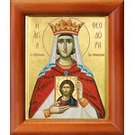 Праведная Феодора, царица Греческая, икона в рамке 8*9,5 см - Иконы