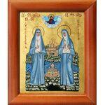 Преподобномученица Елисавета и инокиня Варвара, икона в рамке 8*9,5 см - Иконы