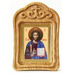 Спас Вседержитель, икона в резной деревянной рамке - Иконы