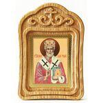 Святитель Николай Мирликийский Чудотворец, икона в резной рамке - Иконы