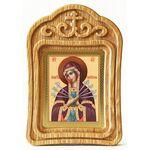 Икона Божией Матери «Семистрельная», резная деревянная рамка - Иконы
