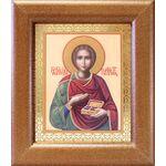 Великомученик и целитель Пантелеимон, широкая рамка 14,5*16,5 см - Иконы