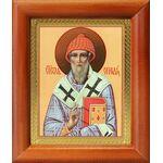 Святитель Спиридон Тримифунтский, деревянная рамка 8*9,5 см - Иконы