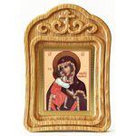 Феодоровская икона Божией Матери, резная деревянная рамка - Иконы