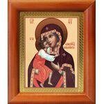 Феодоровская икона Божией Матери, деревянная рамка 8*9,5 см - Иконы