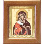 Феодоровская икона Божией Матери, широкая рамка 14,5*16,5 см - Иконы