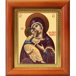 Владимирская икона Божией Матери, деревянная рамка 8*9,5 см - Иконы