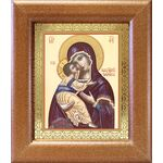 Владимирская икона Божией Матери, в широкой рамке 14,5*16,5 см - Иконы