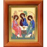 Святая Троица, икона в деревянной рамке 8*9,5 см - Иконы