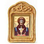 """Икона Божией Матери """"Неупиваемая Чаша"""", резная деревянная рамка - Иконы"""