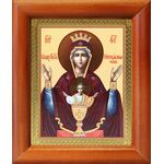 """Икона Божией Матери """"Неупиваемая Чаша"""", деревянная рамка 8*9,5 см - Иконы"""