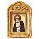 Преподобный Серафим Саровский, икона в резной деревянной рамке - Иконы