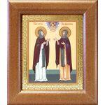 Благоверные князья Петр и Феврония Муромские, широкая рамка 14,5*16,5 - Иконы