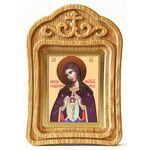 """Икона Божией Матери """"Помощница в родах"""", резная деревянная рамка - Иконы"""