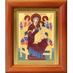 """Икона Божией Матери """"Всецарица"""", деревянная рамка 8*9,5 см - Иконы"""