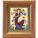 """Икона Божией Матери """"Всецарица"""", широкая деревянная рамка 14,5*16,5 см - Иконы"""